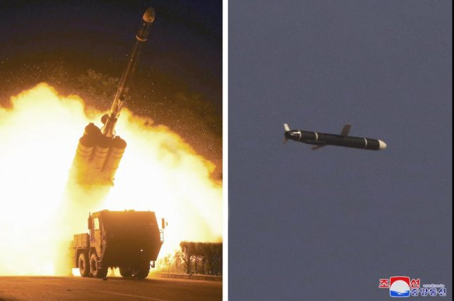 North Korean state media announced Monday that it had successfully test-fired a new long-range cruise missile, the latest development in the country's growing weapons program. Photo courtesy of KCNA/EPA-EFE