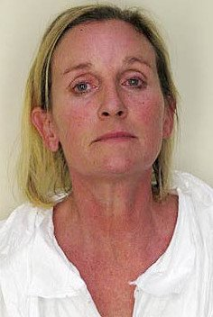 Julie Powers Schenecker's mugshot, courtesy of the Hillsborough Country Sheriff's Office.