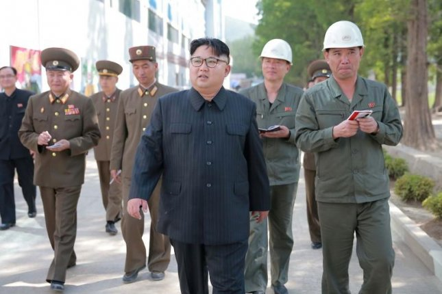 North Korea's Kim Jong Un continued to visit civilian sites while avoiding military locations on state media. File Photo by KCNA