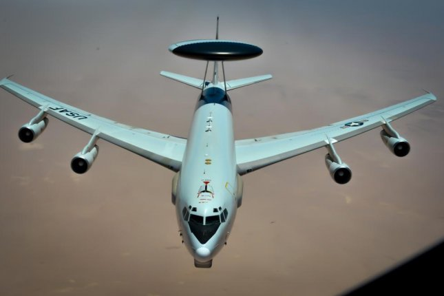 Boeing has received a contract for engineering and technical support on the E-3 Sentry, pictured in flight. U.S. Air Force photo