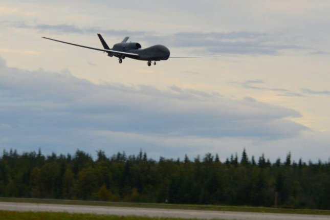 Northrop Grumman received a $3.6 billion contract to support the Battlefield Airborne Communications Node, which distributes communications while attached to the RQ-4 Global Hawk drone, pictured. Photo by A1C Tristan Vigliano/U.S. Air Force