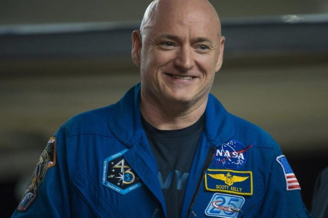 NASA astronaut Scott Kelly returned to his Houston, Texas, home early Thursday to reunite with his family, where he was greeted by second lady Dr. Jill Biden. Kelly spent 340 days aboard the International Space Station. Photo courtesy of NASA