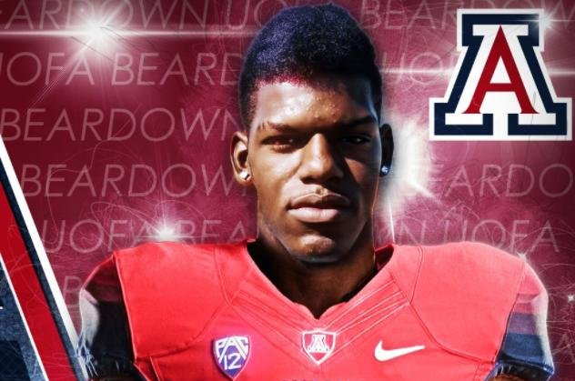 Arizona defensive end My-King Johnson. (Arizona Football/Twitter)