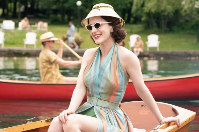 Rachel Brosnahan in a scene from the comedy series The Marvelous Mrs. Maisel. Season 2 starts streaming Wednesday. Photo courtesy of Amazon Studios