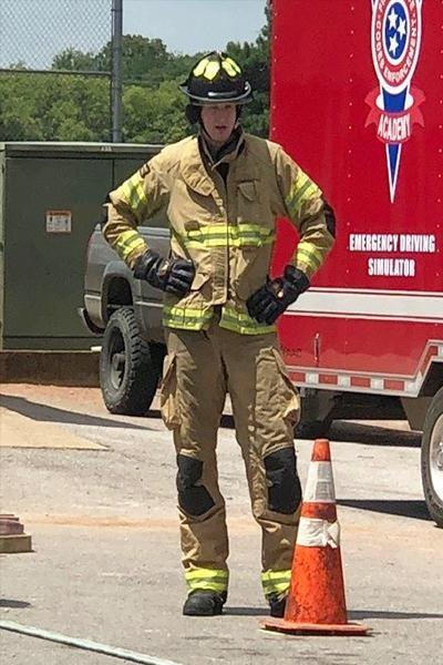 Brandon Berridge, 28, of Winchester, Tenn., was dubbed the world's tallest firefighter by Guinness World Records. Photo courtesy of Guinness World Records