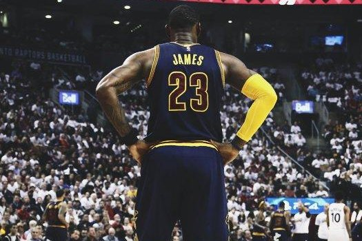 LeBron James and the Cavaliers advanced to the Eastern Conference Finals with a sweep of the Toronto Raptors. Photo courtesy Cleveland Cavaliers via Twitter.