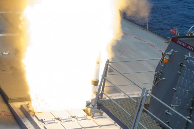USS Arleigh Burke successfully launches an SM-2 Standard Missile from the forward Vertical Launching System as part of their Combat System Ship Qualification Trials. Photo by Mass Communication Specialist Seaman Maria I. Alvarez/U.S. Navy