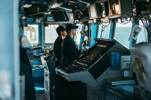 Naval officers test the Aegis Baseline 9 weapons system in preparation for its deployment in 2017. Photo by Chad M. Butler/U.S. Navy