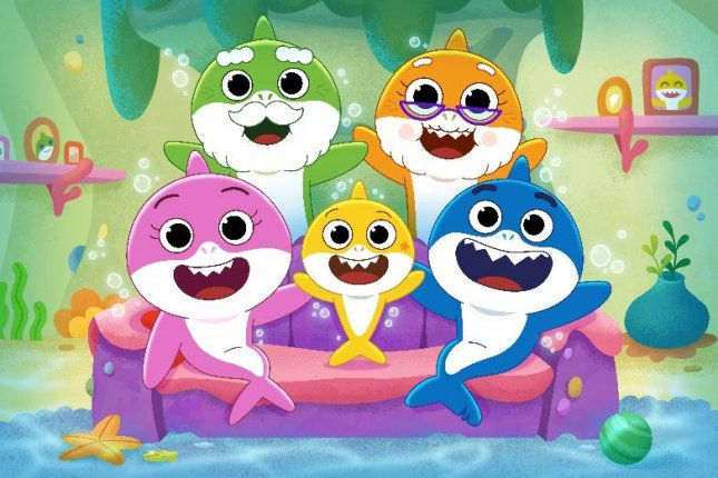Baby Shark's Big Show!, a new animated children's series about Baby Shark and his friend William, is coming to Nickelodeon in March. Photo courtesy of Nickelodeon
