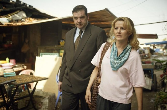Brendan Coyle and Deirdre O'Kane in a scene from the biopic Noble. Photo courtesy Aspiration Media/Continental Media