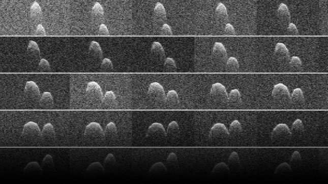 Radar images of asteroid 1999 JD6. Photo by NASA/JPL-Caltech/GSSR