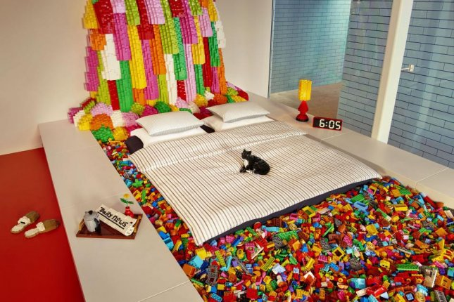 Lego and Airbnb are offering a night in Denmark's new Lego House to a family that answers the question: If you and your family had an infinite supply of Lego bricks, what would you build? Photo courtesy of Lego House