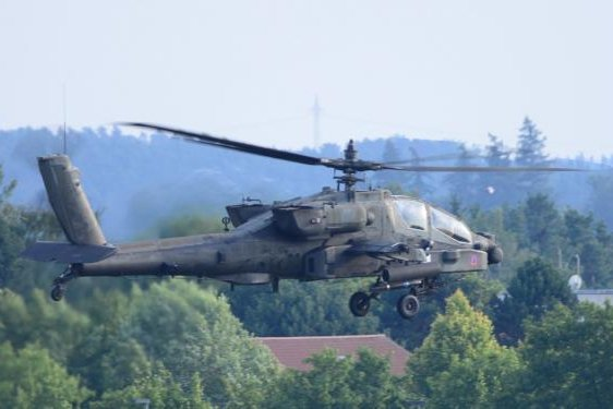 AH-64 Apache attack helicopter on a training flight. The JAGM will form a primary part of it's armament. Photo by Charles Rosemond/Training Support Activity Europe/U.S. Army