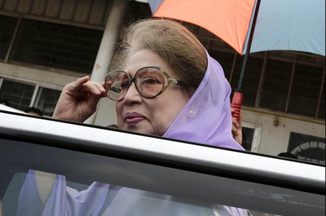 Former Bangledeshi Prime Minister Khaleda Zia was sentenced Monday to another seven years in prison. Photo by Abir Abdullah/EPA-EFE