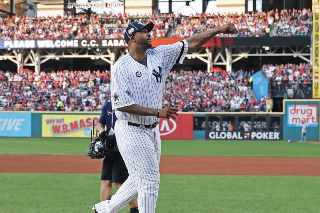 Yankees pitcher CC Sabathia played in Cleveland from 2001 to 2008. Photo by Yankees/Twitter