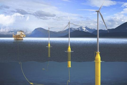 A multilateral research project aims to examine ways to help offshore oil production using wind energy. Photo courtesy of DNV GL.