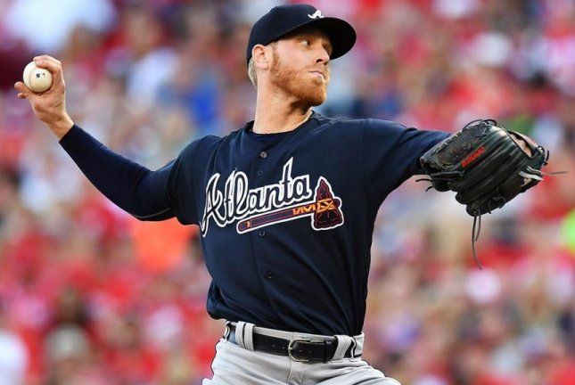 Mike Foltynewicz gave up 11 hits in 3 1/3 innings but the Braves beat the Nationals on a Tyler Flowers 3-run homer in the ninth inning. Photo courtesy Atlanta Braves/Twitter