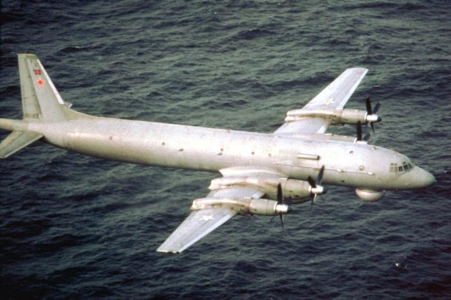 U.S. fighter planes intercepted two Russian IL-38 aircraft, like this one, off the coast of Russia Wednesday. Photo via Wikimedia Commons