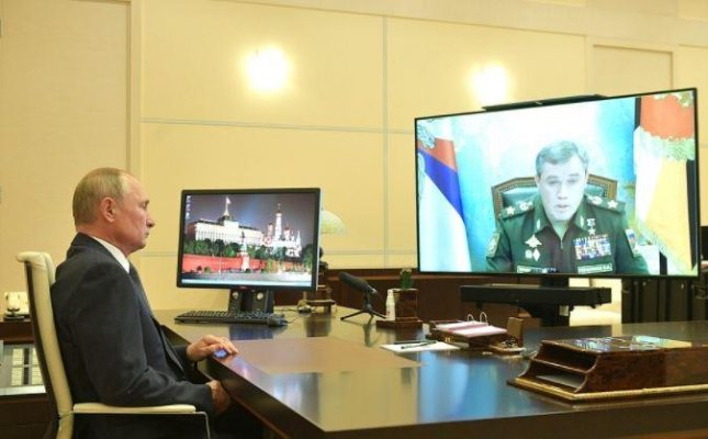 Russian President Vladimir Putin was informed of a successful hypersonic missile test on Tuesday by Russian Military Chief of Staff Valery Gerasimov. Photo courtesy of the Office of the Russian President