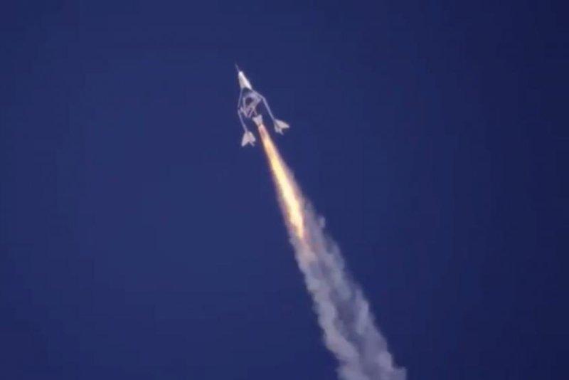 Virgin Galactic completed a successful space flight Saturday. Image via Virgin Galactic/Twitter