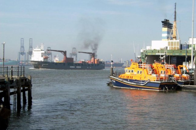 Harwich International Port at Essex, England, where 68 immigrants were found in shipping containers. Photo courtesy of wikimedia.org/ Martin Pettitt.