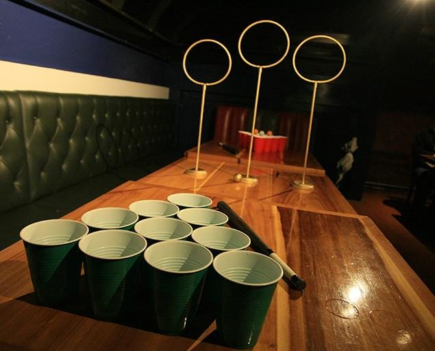 Quidditch Pong looks to combine popular drinking game beer pong with elements of the magical sport from J.K. Rowling's Harry Potter series. Photo By Unofficial Quidditch Pong.