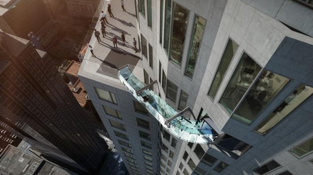A glass slide 1,000 feet over the ground is coming to Los Angeles' U.S. Bank Tower. Photo courtesy of Skyspace-LA.com