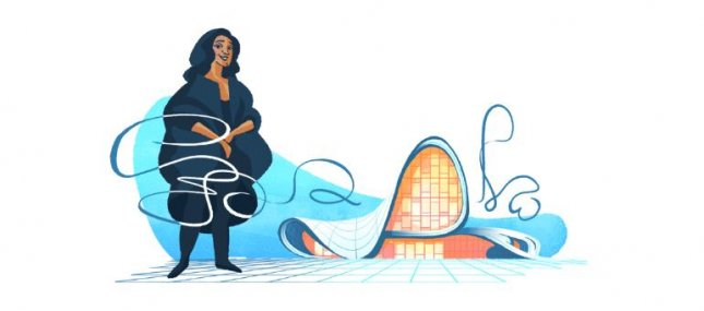 Google is paying homage to award-winning architect Zaha Hadid with a new Doodle. Image courtesy of Google.
