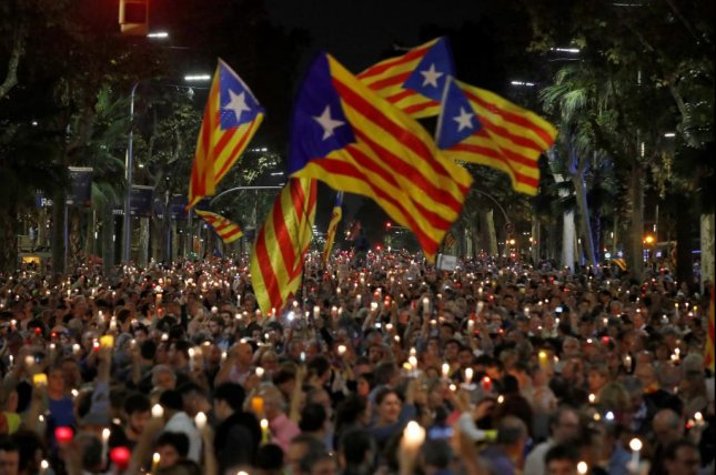 Spanish Prime Minister Mariano Rajoy said Saturday that he would begin the process of removing Catalonia's separatist leaders from office and take control of the region. Photo by EPA-EFE/Alberto Estevez