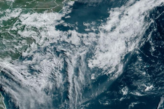 The first named storm of 2021 in the Atlantica formed early Saturday morning as Subtropical Storm Ana east of Bermuda and transitioned to a tropical storm Sunday morning. Satellite image courtesy National Oceanic and Atmospheric Administration.