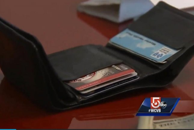 A Boston woman's stolen wallet resurfaced eight years later with all of its original contents intact. Screenshot: WCVB-TV
