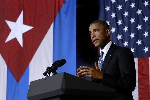 President Barack Obama met with Cuban entrepreneurs on Monday, where he encouraged the principles of free enterprise and praised Cuban cuentapropistas, or self-employed Cubans working outside of state-sponsored businesses. Photo by Olivier Douliery/ABACA/UPI