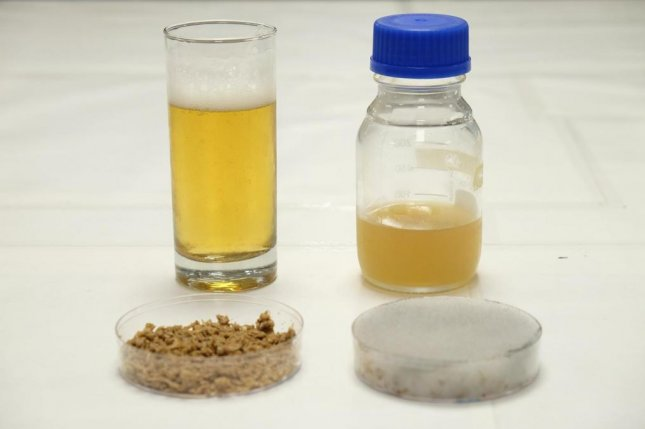 Researchers have developed a new method for converting spent grains into food for yeast. Photo by NTU Singapore