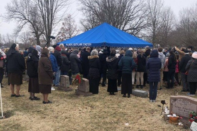 Hundreds of people gathered for a burial ceremony for 2,411 fetuses found at the home of an Indiana abortion doctor on Wednesday. Photo courtesy Indiana Attorney General Curtis Hill/Twitter