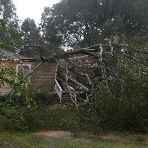 North Carolina received heavy winds and flooding due to Hurricane Matthew. Photo from North Carolina Emergency Management