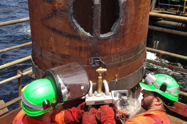 Italian energy company Eni reaches its production capacity at a basin off the coast of Angola two months after initial operations began. Photo courtesy of Eni