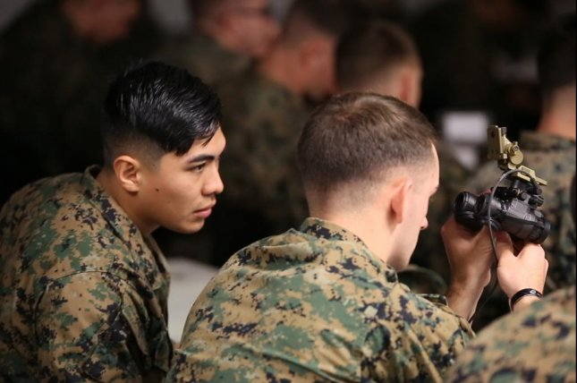 Marines took delivery of the Squad Binocular Night Vision Goggles during new equipment training in December 2018 at Camp Lejeune, N.C. Photo by Joseph Neigh/U.S. Marines