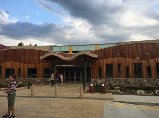 The front of the new Sandy Hook Elementary School. The $50 million school will open to students on Aug. 29. Photo by Sen. Chris Murphy/Twitter