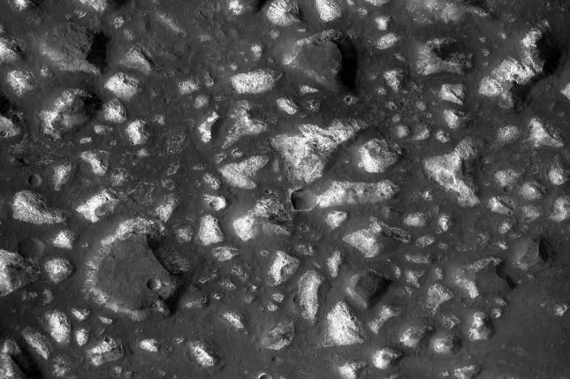 Mineral deposits in Mars' Eridania basin suggest the Red Planet once hosted underwater hydrothermal activity. Photo by NASA/JPL-Caltech/MSSS