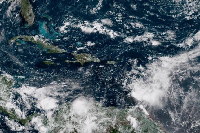 Tropical Storm Kirk is expected to weaken over the weekend into a trough of low pressure. Image courtesy NOAA