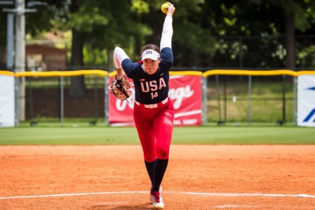 Team USA pitcher Monica Abbott signed the first $1 million contract in National Pro Fastpitch history in 2016. Photo by Jade Hewitt, courtesy of USA Softball