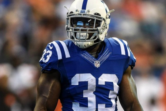 Indianapolis Colts running back Robert Turbin (33) was suspended four games by the NFL on Friday for violating the league's policy on performance-enhancing drugs. Photo courtesy of Indianapolis Colts/Twitter