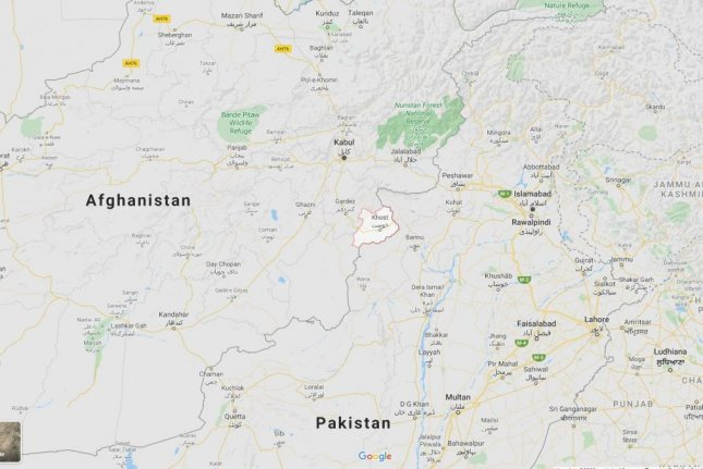Twenty wedding guests, including children, were wounded by hand grenades in the Khost province of eastern Afghanistan, police said Sunday. Google Maps screenshot