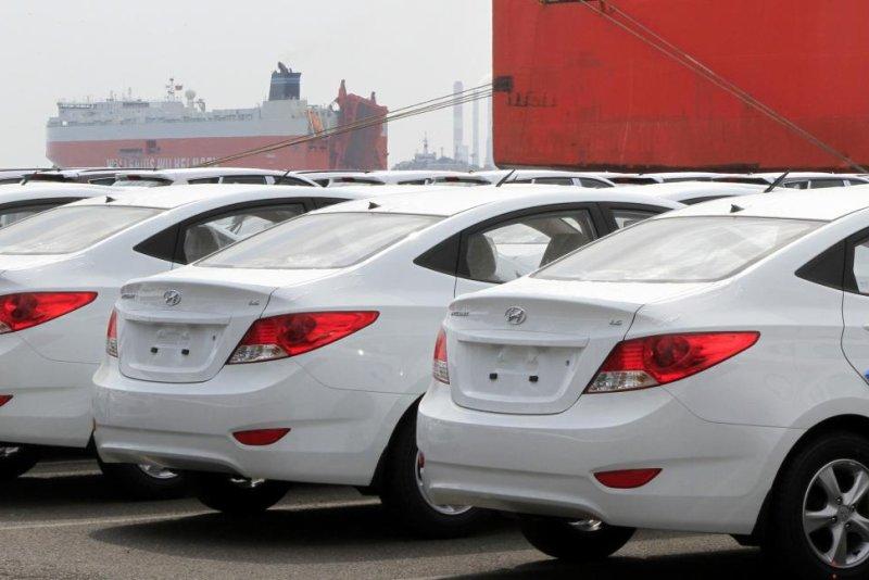 Hyundai Motor Co. could be heavily affected by 25 percent U.S. tariffs, the company's labor union said Monday. File Photo by Barbara Walton/EPA