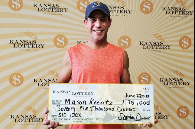 Mason Krentz of Silver Lake, Kan., said his $75,000 lottery jackpot came just two days after he dreamed of winning $25,000. Photo courtesy of the Kansas Lottery
