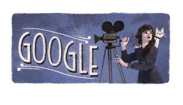 Google honored what would be Canadian-American actress, director and producer Mary Pickford's with a special Doodle.  Screen capture/Google