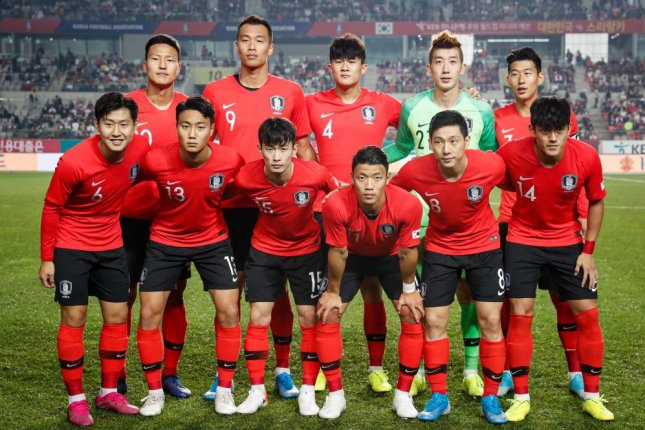South Korean soccer team players (pictured) are to play against the North Korean national team in Pyongyang on Tuesday. File Photo by Jeon Heon-kyun/EPA-EFE