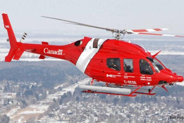 Bell Helicopter's 429 light-lift helicopter operated by the Canadian Coast Guard. Photo courtesy Bell Helicopter