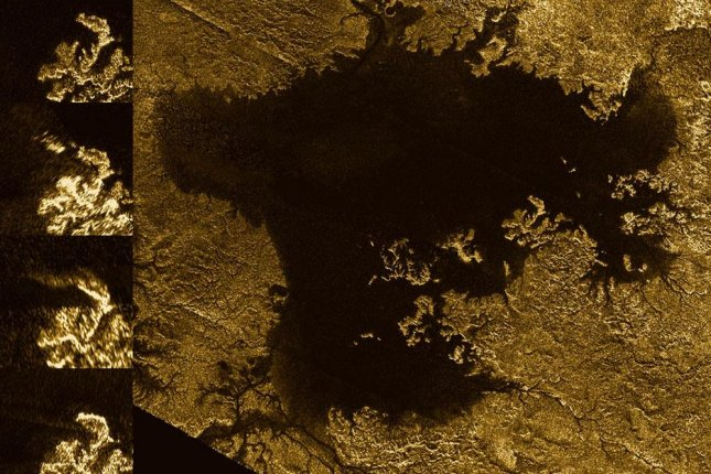 Titan's so-called magic islands could simply be patches of nitrogen bubbles. Photo by NASA/JPL