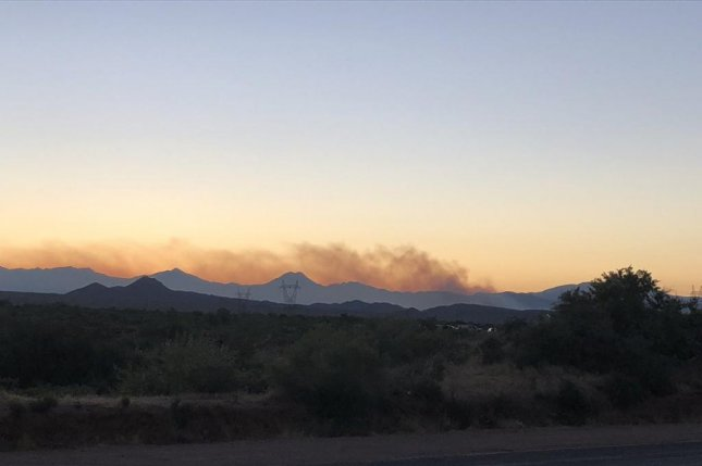 A wildfire in Tonto National Forest in Arizona had consumed about 7,200 acres on Saturday. Photo courtesy Tonto National Forest/Twitter